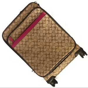 Coach Jacquard Roller Carry On Suitcase